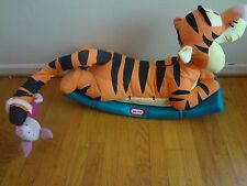 Little Tikes Plush Tigger Ride On Rocker Toy Vintage Rocking Horse w/Piglet!