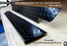 Jeep CJ5 Powder Coated Diamond Plate Side Rockers with bend SET 5 1/4'' WIDE