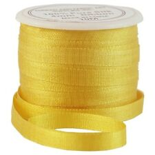 11 YDS (10 M) EMBROIDERY SILK RIBBON 100% SILK 4MM - SUN GOLD - by THREADART