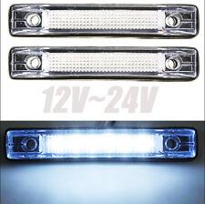 2 White 6LED Truck Pickup Trailer Clearance Side Marker Lndicators Light Bus 24V