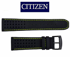 Citizen CA0467-20H ECO-DRIVE BLACK watch band 23mm STRAP Green stitches