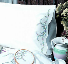 Embroidery Kit ~ Design Works Reflections Floral PILLOWCASE PAIR #T230049