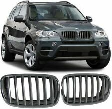 SET OF CHROME BONNET GRILL GRILLS FOR BMW X5 E70 2007-2013 MODEL M SPORT LOOK V2