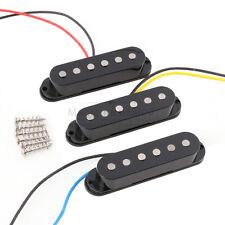 Set of 3p Alnico 5 Alnico V Single Coil Pickup SSS for Strat Style Guitar Black