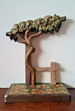 """ANRI Italy Grapevine Display Stand for Figurines, Wood Carved, 7.25""""t x 5.5""""w"""