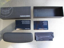 Auth Porsche Design Glasses Case w/ Warranty Booklets, Cleaning Cloth
