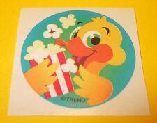 Vintage TREND Scratch n Sniff POPCORN Scent Duck STICKER
