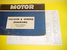 1970 1971 1972 1973 1974 MERCURY COUGAR XR-7 CONVERTIBLE VACUUM+WIRING DIAGRAMS