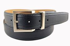 MEN'S DRESS CASUAL SYNTHETIC LEATHER BLACK BELT WITH COMFORT BUCKLE SIZE 44 NWT