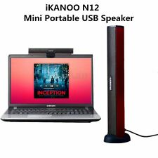 iKANOO N12 Mini USB Bar Speaker Laptop Computer PC Speaker Audio Sound Red