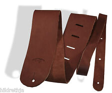 """Guitar Strap, 3"""", Brown Guitar Strap, US Made Leather, Full Cowhide, Extra Long"""