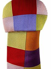 DUCHAMP LONDON Tie Multi-Coloured Rectangles