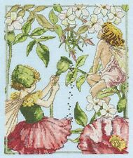 The Jasmine & Shirley Poppy Flower Fairies Cross Stitch Kit - 14 Count - DMC