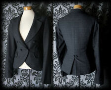 Gothic Grey Fitted LOST LOVE Button Detail Riding Jacket 10 12 Victorian Vintage