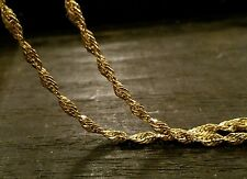 "VINTAGE 750 18K SOLID YELLOW GOLD 17.5"" TWIST CHAIN NECKLACE 4.7g SPARKLING"
