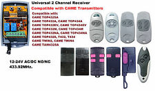 Universal 433.92MHz 2 Channel Receiver Compatible with CAME Transmitters