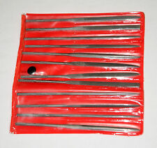 Set of Small Needle Files for Clock Hand Fitting, Etc.