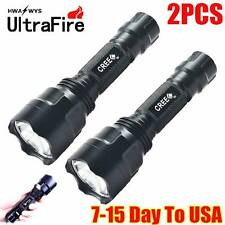 2 PCS Ultrafire 800lumen 400meter CREE Q5 LED Tactical 18650 Flashlight Torch C8