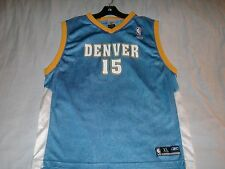 CARMELO ANTHONY 15 Denver Nuggets Blue NBA Reebok Basketball Jersey Boys XL used