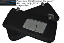 BLUE STITCH FITS SUZUKI GRAND VITARA 2005-2012 2X SUN VISORS LEATHER COVERS ONLY