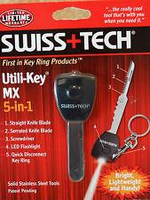 Swiss+Tech Utili-Key MX 5-in-1 Multi Purpose Keyring Tool High Quality EDC