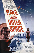 Plan 9 From Outer Space B Movie Poster A3 reprint
