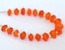 CARNELIAN BEADS FACETED RONDELLE 4 - 5 MM NATURAL GEMSTONE 19 PCS #3496