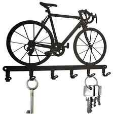 Racing Bicycle - KEY HOOK Wall Key Holder Hanger Bike - Steel hooks design black