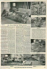 1953 ADVERT Far Eastern Rattan By Willow & Reed Furniture Chair Settee Table Bar