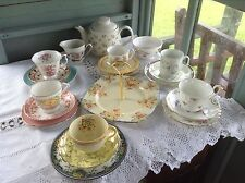 Vintage china mix and match tea set Choose Your Own Combination & Colour Scheme