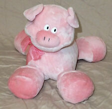 Pink Floppy Pig Big Feet Curly Tail Stuffed Bean Animal Preferred Plush 10""