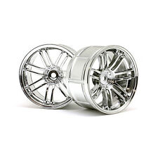 HPI Racing RC Car LP32 RE30 Rays Volks Racing Wheels Chrome 6mm 2pcs 3341