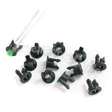 10 Black Plastic 3mm LED Clip Holder Display Panel Case