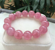Natural Rose Quartz Madagascar Crystal Beads Bracelet AAA 14mm