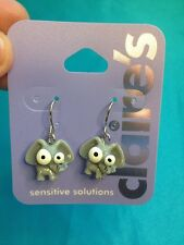 One Pair Of Claire's Dangling Elephant With Bigeyes Earrings  Funny