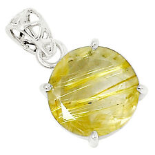 Golden Rutile 925 Sterling Silver Pendant Jewelry 9285P