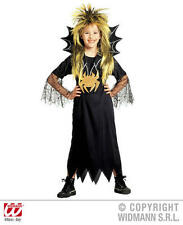 Childrens Spider Girl Fancy Dress Costume Halloween Black Widow Witch Outfit 128