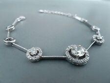 100% 925 Sterling silver Bracelet, Quality AAAAA grade CZ stones.Aussie Seller16