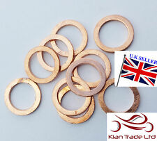 10 PCS M12 Copper crush washers .5MM THIN OIL SEAL 12mm brake OIL M12 x 16 x .5