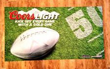 """COORS LIGHT WELCOME MAT DOOR FLOOR RUG TABLE NFL FOOTBALL BEER  PARTY 51""""x 28"""""""