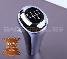 BMW MANUAL 5 SPEED REAL LEATHER CHROME GEAR KNOB SHIFT E36 E34 E46 E39 E32 E30