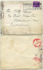 NETHERLANDS 3rd REICH CENSOR GERMANY WW2 1942 POSTAL SLOGAN CANCEL