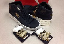 Puma Mid UNDFTD Undefeated 24K sz 11 black gold boost clyde