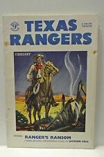 Texas Rangers. February, 1953. Vol. VIII. No. 4. Ranger's Ransom by Jackson Cole