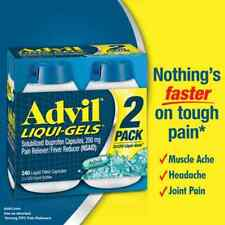 Advil Liqui-Gels Solubilized Ibuprofen Capsules 200 mg ( 240 ct ) EXP 06/2018