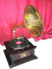 ANTIQUE GRAMOPHONE PHONOGRAPH BRASS CRAFTED HORN SOUND BOX NEEDLE SET