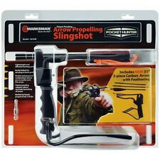 Marksman 3076W Pocket Hunter Slingshot with 3 Piece Arrows