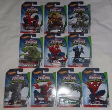 HOT WHEELS Set of 10 Marvel ULTIMATE SPIDER-MAN VS SINISTER 6 Die-Cast Cars
