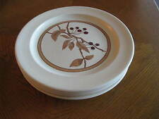 "Set of 5 Anchor Hocking ""Wild Cherry"" Ironstone Dinner Plates"