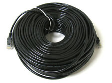 100FT 100 FT RJ45 CAT5 CAT 5 HIGH SPEED ETHERNET LAN NETWORK BLACK PATCH CABLE